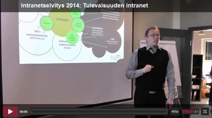 Aamu kattojen yllä 1.10.2014 Tulevaisuuden intranet