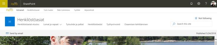 Navigointi hub-sivustolla