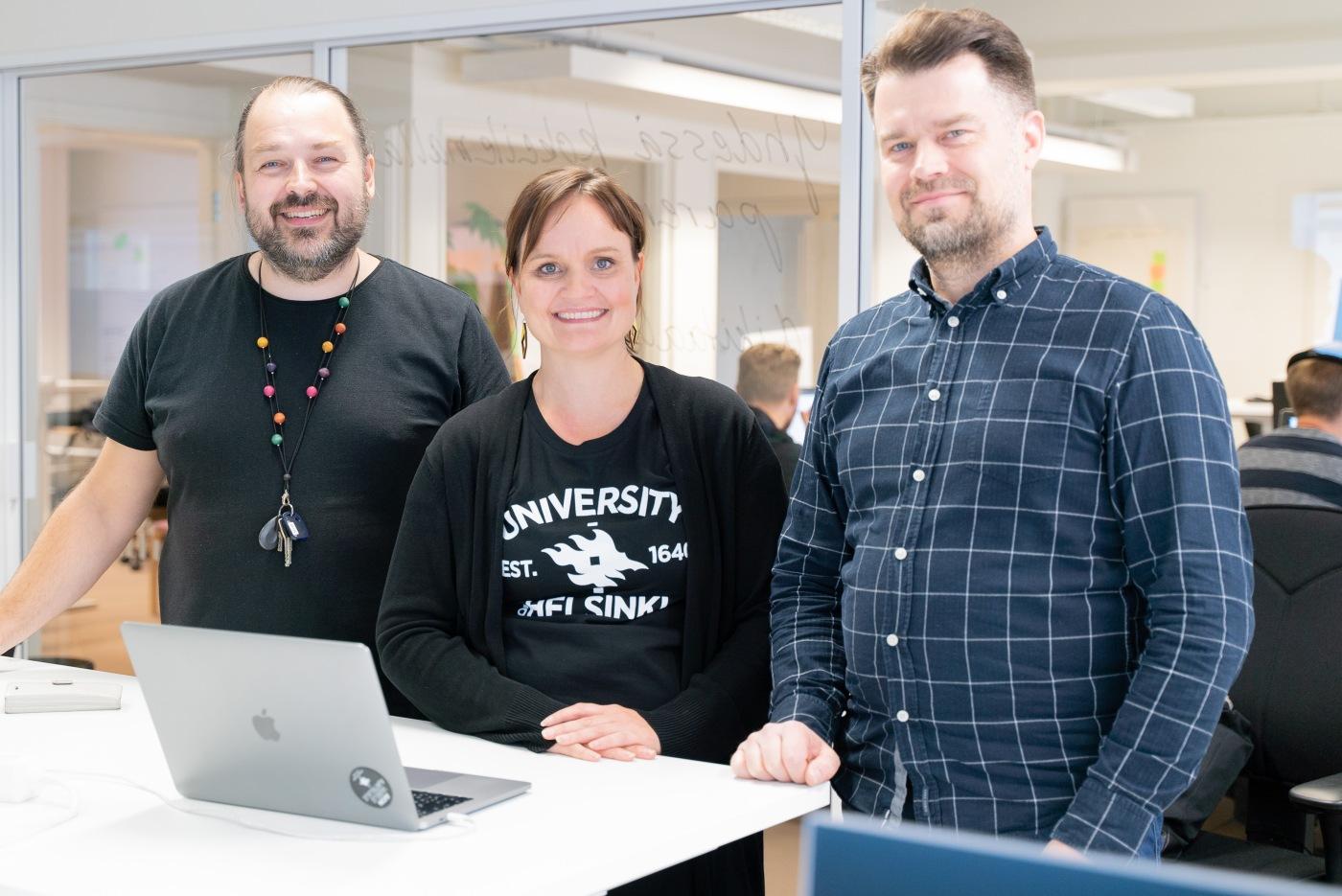 Kuvassa Mikko Hassinen, Pauliina Pajunen ja Juha Sjöblom