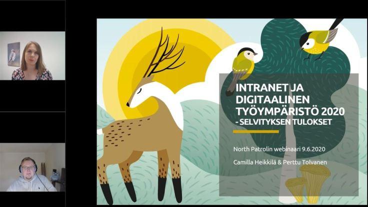 Intranetit ja digitaaliset työympäristöt 2020 -selvityksen tulosjulkistuksen tallenne GoToWebinarissa